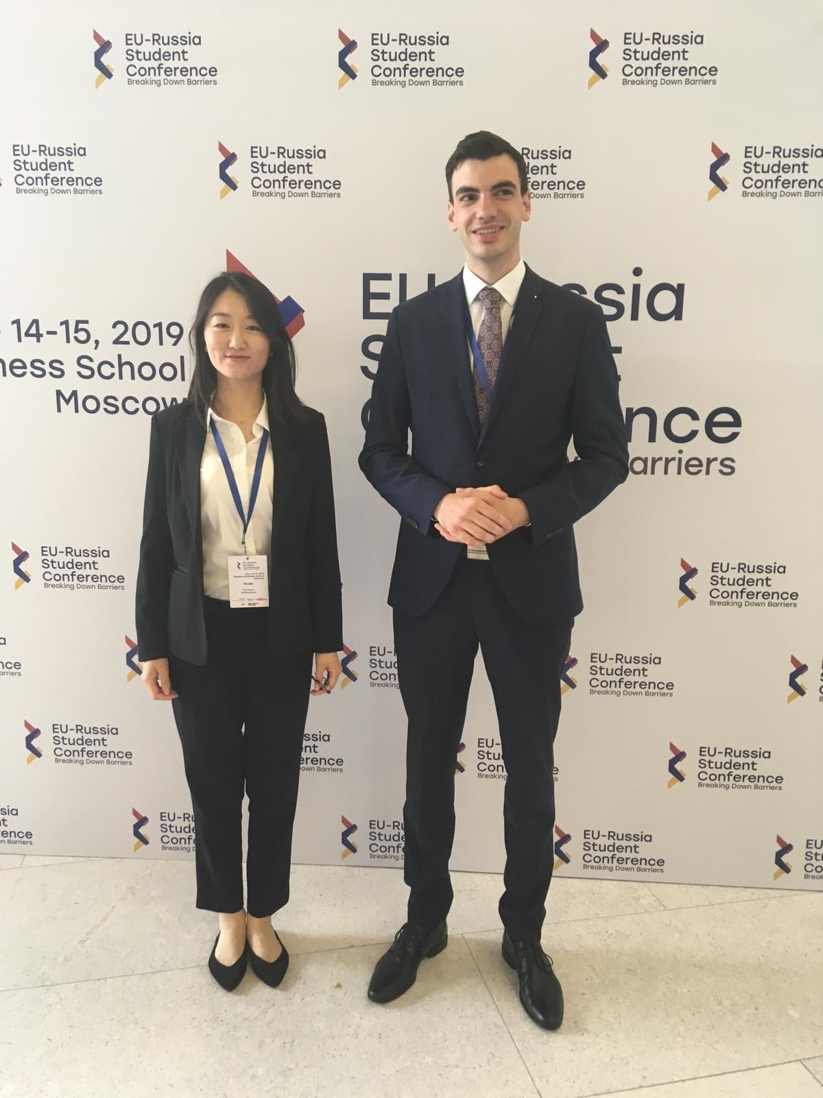 Qin He & Welter Lennart at EU-Russia Conference